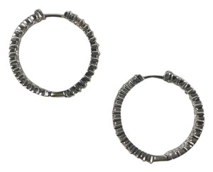 Roberto Coin Roberto Coin 18kt White Gold Diamond Hoop Earrings 1.53 Carats