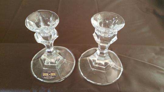 Crystal Glass Unity Candles Holder