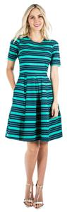 Down East Basics short dress Green Modest Fit And Flare on Tradesy