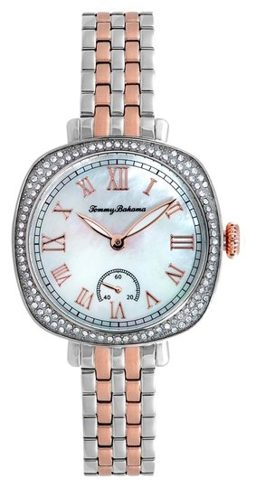 Tommy Bahama Tommy Bahama 10018357 Women's Silver Tone Analog Watch With White Dial