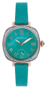 Tommy Bahama Tommy Bahama 10018358 Women's Rose Gold Analog Watch With Turquoise Dial