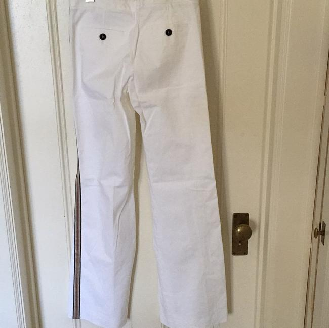 Burberry Trouser Pants White black red tan