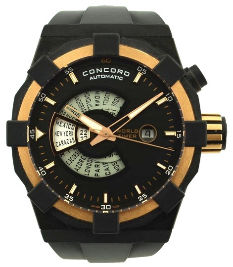 Concord Authentic Concord C1 World Timer Rose Gold Watch