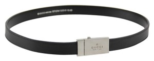 Gucci * Gucci Leather Belt - Size 30 - Black