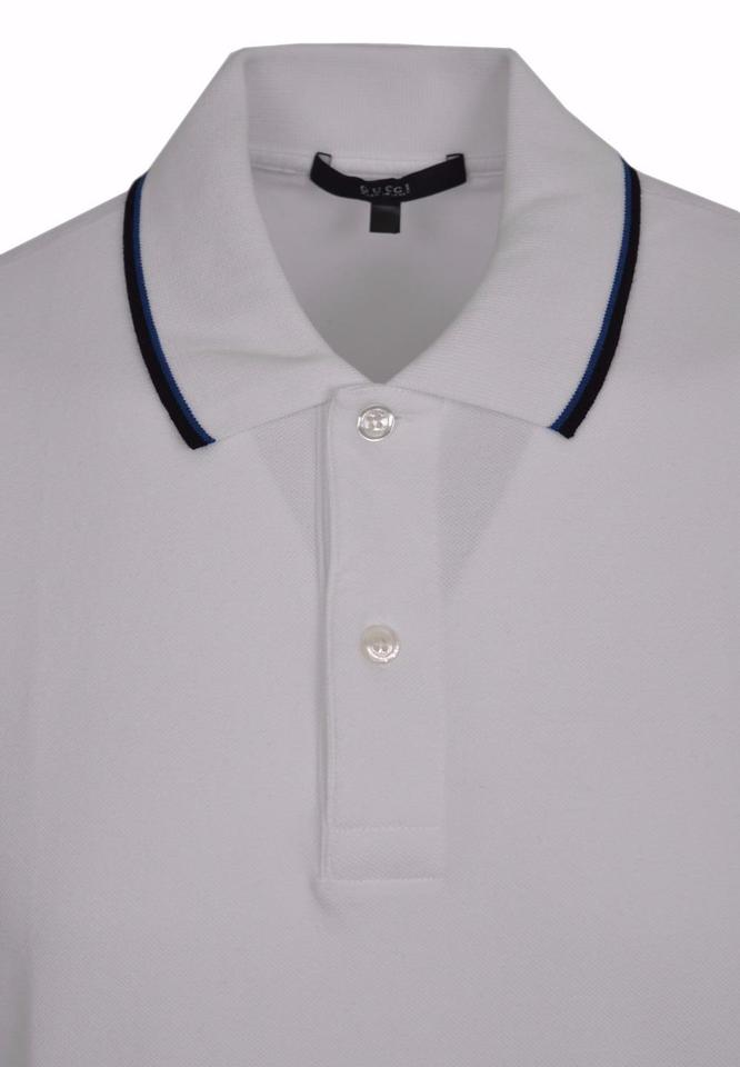 b8848559c Gucci White Jersey New Men's 354345 Washed Cotton Gg Polo Golf Medium Tee  Shirt Size 8 (M) - Tradesy