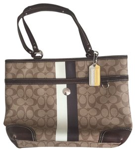 Coach Satchel in Brown Tones