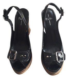 Linea Paolo Black patient leather. Mules
