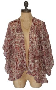 Anthropologie Chiffon See Trough Cardigan