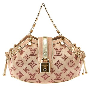 Louis Vuitton Strass Theda Pm Swarovski Satchel in Pink & Gold