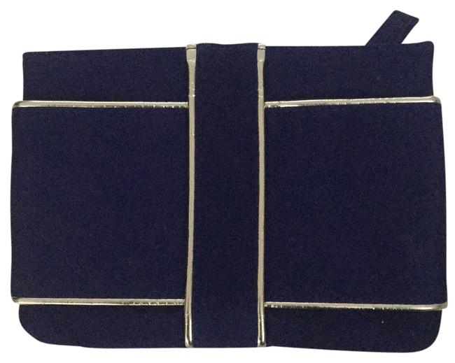Item - Blue with Gold Tones Cosmetic Bag