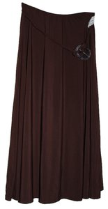 Jason Maxwell Maxi Skirt Brown