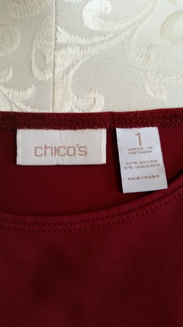 Chico's Top Burgundy