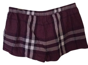 Burberry Mini/Short Shorts Purple white black