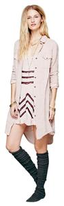 Free People short dress Light pink w/ violet lace on Tradesy