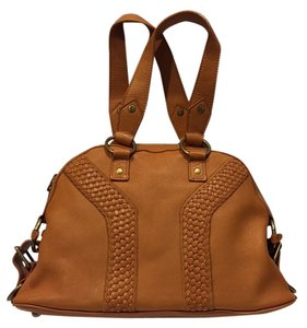 Saint Laurent Ysl Leather Purse Tote in Caramel Tan