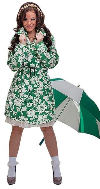 Merona Printed Belted Cuffed Trench Coat