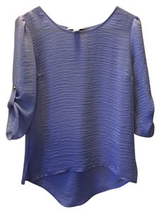 Forever 21 Chiffon Purple Gold Top Lilac