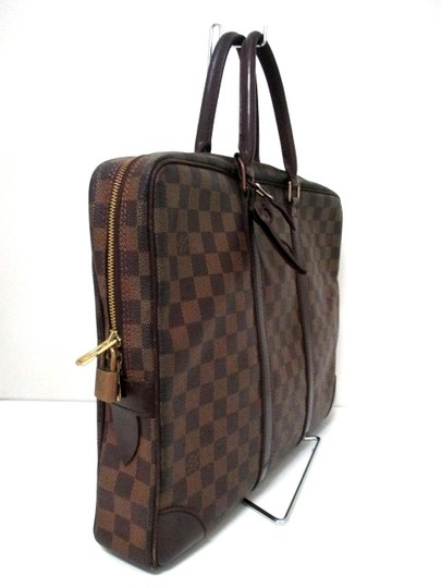 Louis Vuitton Damier Leather brown Travel Bag