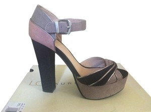 LC Lauren Conrad Pink, Grey, Black Platforms