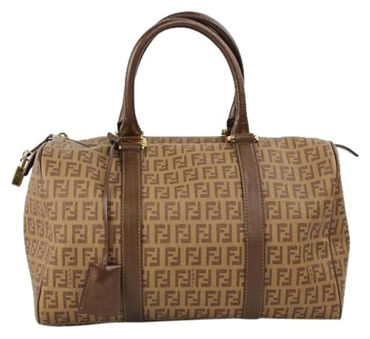 Fendi Speedy 30 Speedy 35 Ff Speedy Satchel in Brown