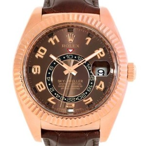Rolex Rolex Sky-dweller Everose Chocolate Brown Rose Gold Mens Watch 326135