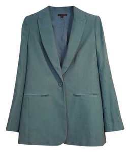 Rachel Zoe Tencel Cotton Polyester Green Blazer