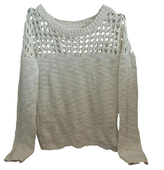 Preload https://item3.tradesy.com/images/white-knit-sweaterpullover-size-4-s-4557202-0-0.jpg?width=400&height=650