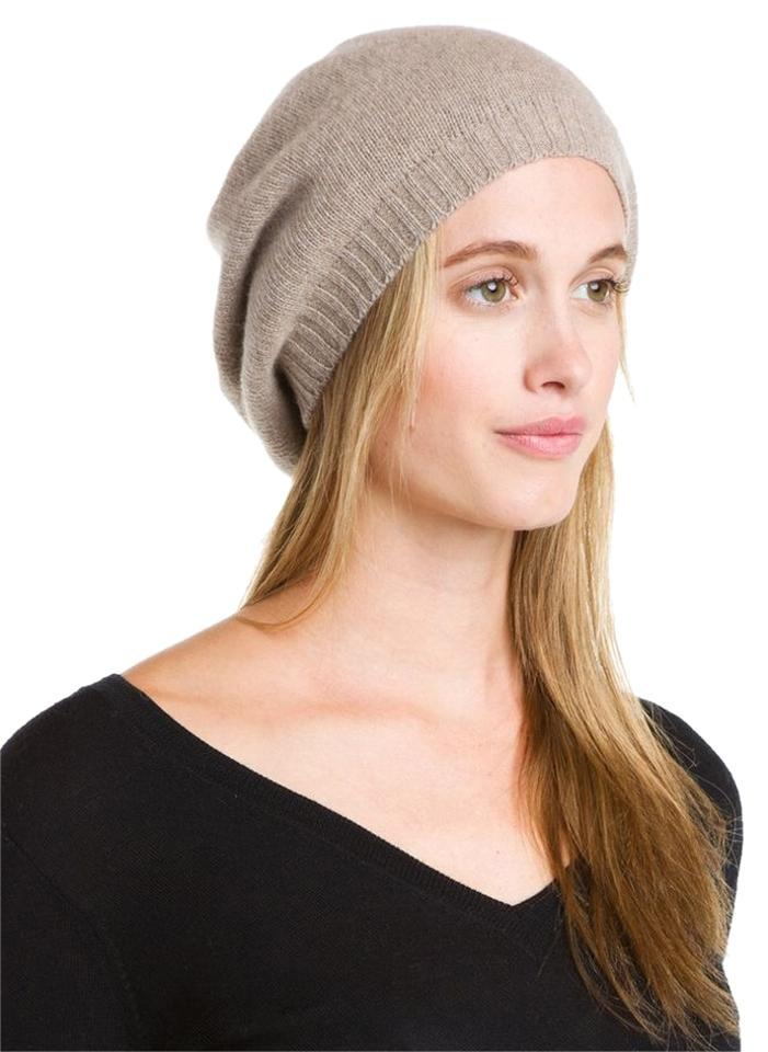 eb2468cfb Oatmeal Cashmere Beret Hat