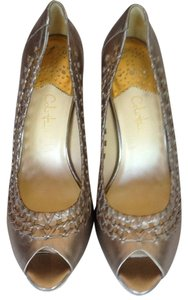 Cole Haan Metallic, gold Pumps