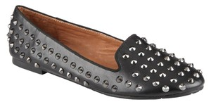 ALDO Studded Leather Loafers Black Flats