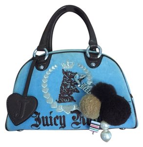 Juicy Couture Bowler Velour Blue Pin Baguette