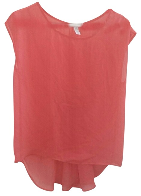 Ambiance Apparel Top Red Orange