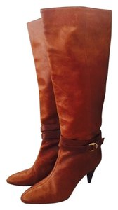 Loeffler Randall Leather Soft Brown Boots