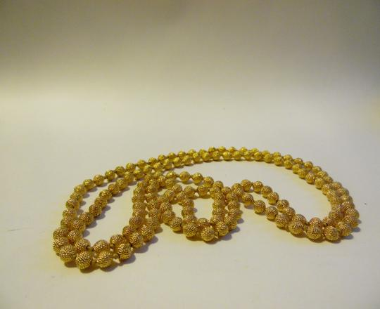 """Joan Rivers JOAN RIVERS Gold Ball Necklace 21"""""""