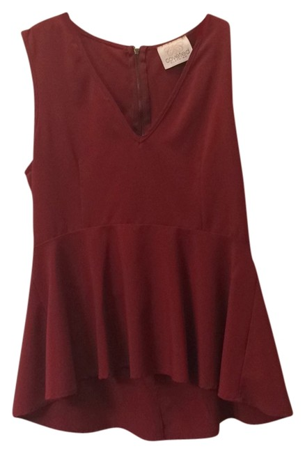 Coveted Clothing Top Crimson