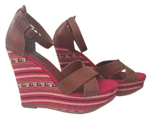 MIA Bohemian Colored Summer Brown/Multi Wedges