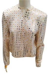 St. Johns Evening Collection beige with gold sequins Jacket