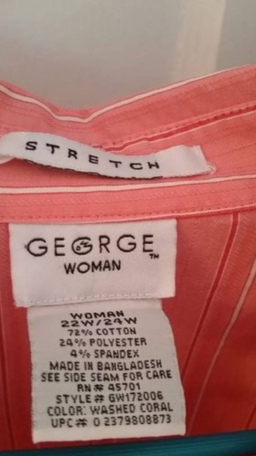 George Top Washed Coral