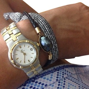 Bulova Classic, everday watch in a dual silver/gold color.