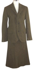 Ralph Lauren Collection Ralph Lauren Collection Skirt Suit Cashmere Alpaca 10 Green Herringbone