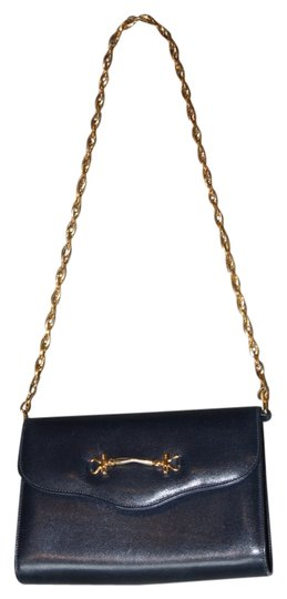 Fabinni Vintage Chain Navy Clutch