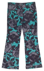 Moschino Cheap & Chich Floral Aqua Gray Pants