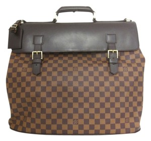 Louis Vuitton Vintage Damier Leather brown Travel Bag