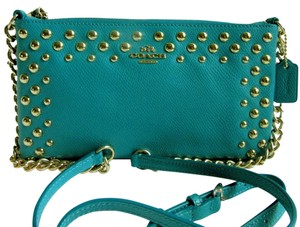 Coach Quinn Studded Leather Cross Body Bag