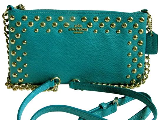 Coach Quinn Studded Shoulder Leather Cross Body Bag