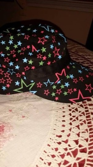 """Other NEW - ladies train cap/ball cap - black with stars and decorative buckle 7 1/4"""""""