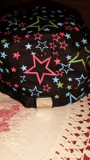 Other NEW - ladies train cap/ball cap - black with stars and decorative buckle 7 1/4