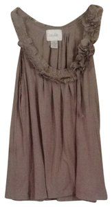 Anthropologie Top Light Taupe