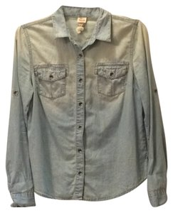 Mossimo Supply Co. Button Down Shirt Chambray