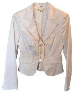 bebe White and gold accents Blazer